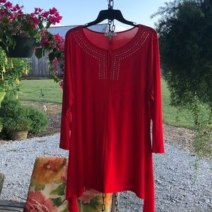 Chaus XL red hot tunic top